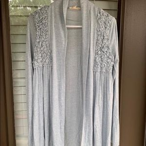 Light blue floral cardigan. Small size